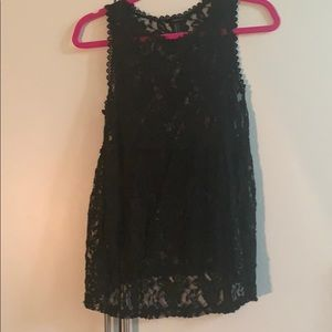 Black tank lace blouse (needs underlay)
